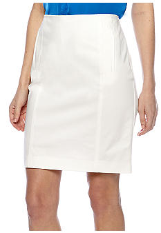 DKNYC Pencil Skirt with Front Zipper Pockets