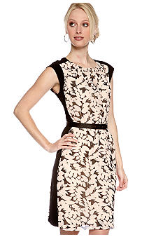 DKNYC Cap Sleeve Printed Dress