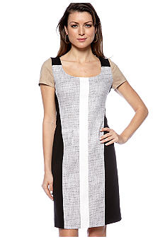 DKNYC Short Sleeve Mix Media Dress