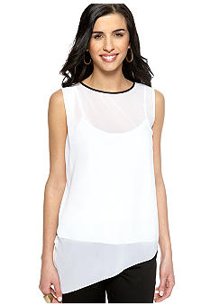 DKNYC Sleeveless Asymmetrical Top