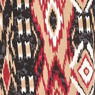 New Directions Women Sale: Cabernet Aztec Combo New Directions Hacci Knit 2Fer Top