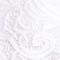 New Directions Women Sale: White New Directions Crochet Lace Tie Front Top