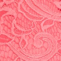 New Directions Women Sale: Pink New Directions Crochet Lace Tie Front Top