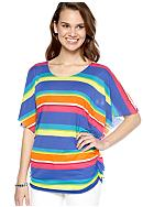 New Directions® Weekend Stripe Dolman Flutter Sleeve Top