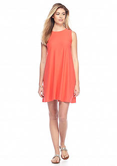 New Directions Solid Knit Swing Dress