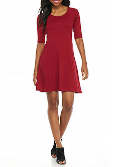 New Directions Petite Knit Swing Dress