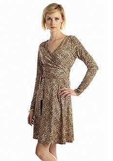 New Directions® Printed Wrap Dress