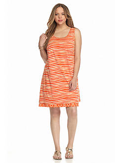 New Directions Weekend Plus Size Reversible Tank Dress