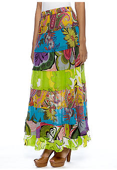 New Directions Print Voile Skirt