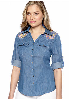 New Directions Weekend Chambray Crochet