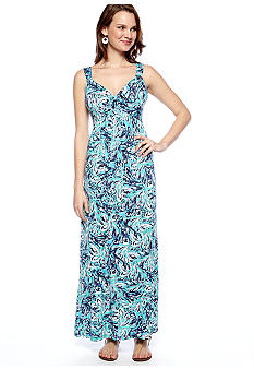 New Directions Petite Printed Maxi Dress