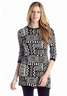 New Directions® Tribal Knit Tunic