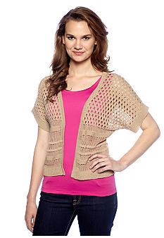 New Directions Open Front Shrug Sweater