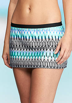 Kenneth Cole Linear Lines Skirted Swim Bottom
