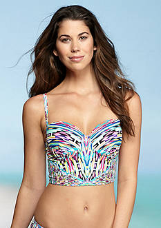 Kenneth Cole Reaction Hot To Trot Tribal Bustier Bra Top