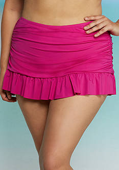 Kenneth Cole Reaction Plus Size Ruffle Shuffle Swim Skirt