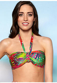 2 Bamboo Palm Before The Storm Bandeau Bra
