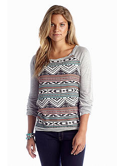 Jolt Tribal Print Sweatshirt