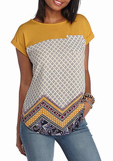 Jolt Promo Knit Printed Top