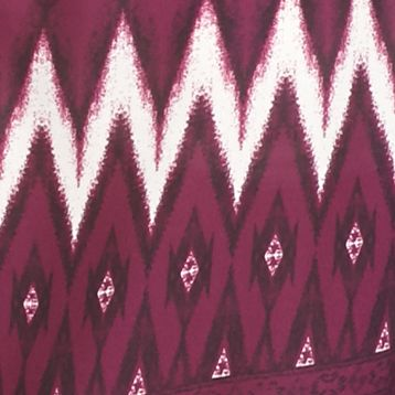 Juniors: Blouses Sale: Plum Wine Jolt Geometric Print Peasant Blouse