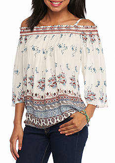 Jolt Printed Smock Top