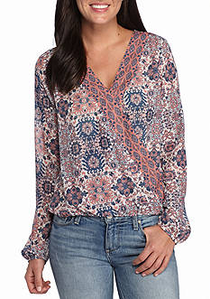 Jolt Cross Over Printed Blouse