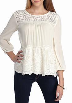 Jolt Lace flounce blouse