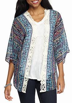 Jolt Crochet Trim Kimono