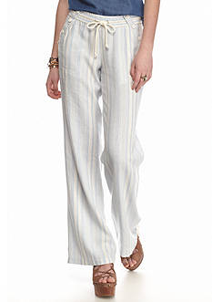 Jolt Striped Wide Leg Linen Pants