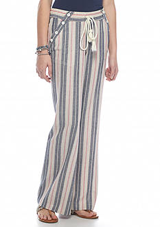 Jolt Wide Leg Striped Soft Pants