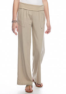Jolt Wide Leg Soft Pants With Fold Over Waist