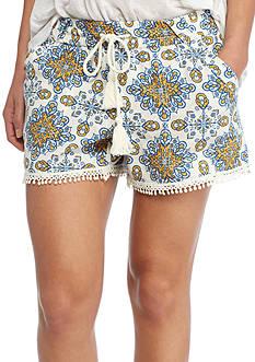 Jolt Tile Print Pom Shorts