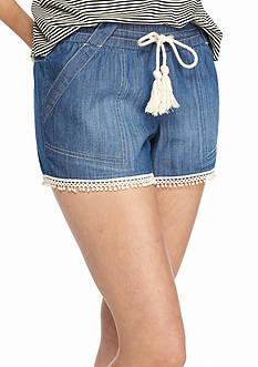 Jolt Chambray Pom Pom Short