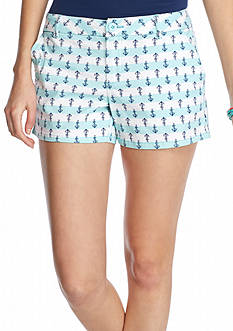 BeBop Anchor Print Trouser Shorts