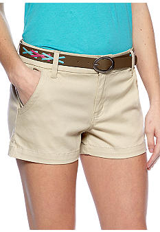 BeBop Short with Contrast Lacing Pleather Belt