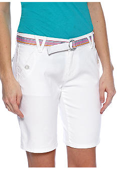 BeBop Slant Pocket Ribbon Belt Bermuda
