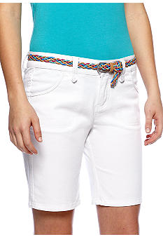 BeBop Bermuda with Multi Color Braided Belt