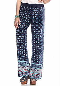 BeBop Diamond Border Printed Palazzo Pants