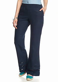 BeBop Solid Ankle Detail Linen Pants