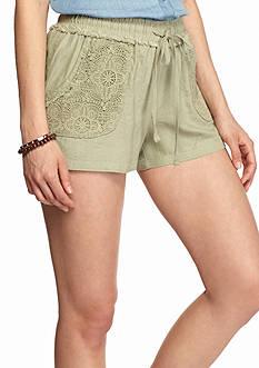 BeBop Crochet Lace Linen Shorts