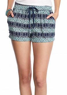 BeBop Printed Utility Cuff Shorts