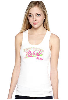 Soffe White Screen Tank Ole Miss