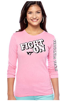 Soffe Virginia Tech Long Sleeve Crew Neck Tee