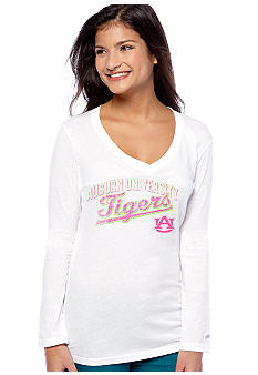 Soffe Auburn Long Sleeve V-Neck Tee