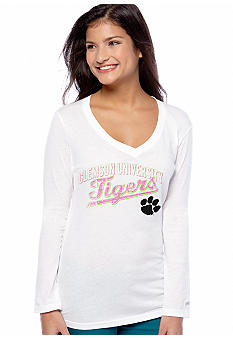 Soffe Clemson Long Sleeve V-Neck Neck Tee