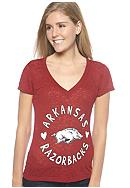 Soffe Arkansas V-neck Burnout Tee