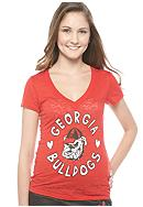 Soffe Georgia V-neck Burnout Tee