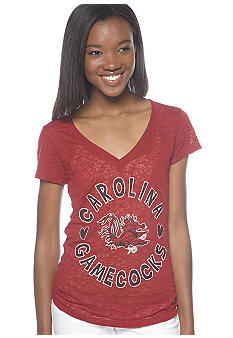 Soffe South Carolina V-neck Burnout Tee
