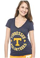 Soffe Tennessee V-neck Burnout Tee