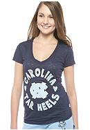 Soffe UNC V-neck Burnout Tee